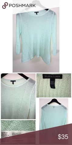 Eileen Fisher Knit Top Pre•loved Eileen Fisher Knit Top. Size S/P. Beautiful Seafoam color. EUC Eileen Fisher Tops