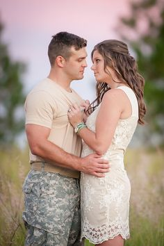 Army military love engagement golden field sunset Orlando wedding photography, Photo from Rachael & Rey collection by Eternal Light Photography  Photo from Rachael & Rey collection by Eternal Light Photography