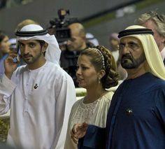 Sheikh Mohammad bin Rashid Al Maktoom, Peincees Haya and Sheikh Hamdan