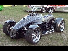 "▶ Bourget's Bike Works Custom Street Quad LS2 V-8 ""Shredder"" - YouTube"