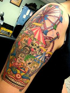 ZOMG! What a rad carnival tattoo!