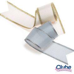 Fitas Metalizadas - Gorgurão com ourela ouro e prata (clique na foto e confira)
