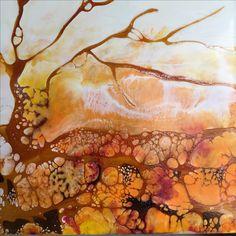 """Encaustic Painting - """"Root"""" by Victoria Pierson www.victoriapiersonfineart.com"""