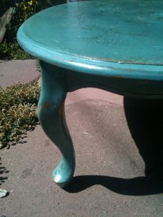 Antiqued Victorian Coffee Table; love the color!