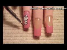 Kerroppi Nail Art Design Short Nail Video Tutorial More Nail Art