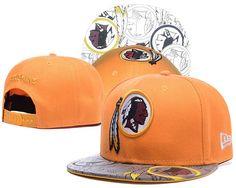 Washington Redskins Orange Snapback Hats Reflective Brim Logo|only US$6.00 - follow me to pick up couopons.