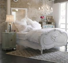 French Country by  although the bed is gorgeous, it's too white for me