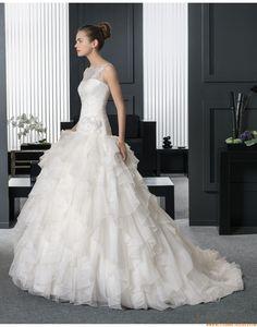 2015 Außergewöhnliche Besondere Luxuriöse Brautkleider aus Organza mit Applikation