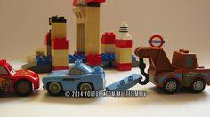 Лего мультик с участием героев мультика Дисней Тачки. Автосервис, Техосмотр и вручение техпаспорта диснеевским тачкам