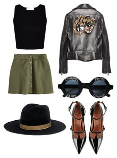 """""""Strongest"""" by cami-lanfranconi-cl on Polyvore featuring moda, H&M, Gucci, RED Valentino, Chanel e Janessa Leone"""