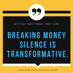 From the Talk About Money Workbook, great for: individuals who want to get real and journal out some money feelings or create a shareable, coherent money story; couples who want to include money experiences and approaches in their ongoing conversations; roommates or collaborators who want to talk through economic differences.