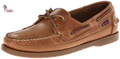 Sebago Mens Schooner Classic Moccasin Shoes B759434 Cognac Leather - Chaussures sebago (*Partner-Link)