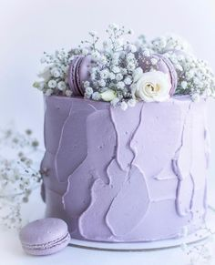 Pretty Cakes, Cute Cakes, Beautiful Cakes, Amazing Cakes, 21st Birthday Cakes, Birthday Cakes For Women, Gateau Aux Oreos, Lavender Cake, Naked Cakes