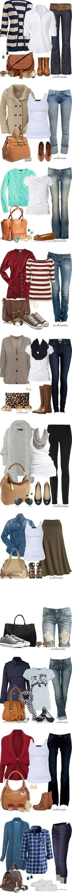 Cute Fall Outfit Ideas love all these combos
