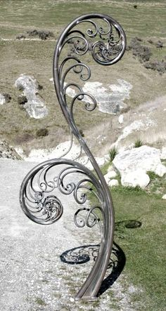 Fern sculpture by Raymond Herber