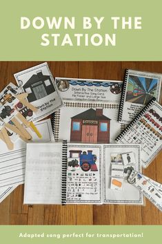Down By The Station: Circle Time Song differentiated Speech Language Pathology, Speech And Language, Circle Time Songs, Transportation Unit, Conversation Cards, School Songs, Simple Sentences, English Language Learners, Community Helpers