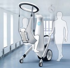 Patient-Lifting Androids - The 'Medirobot' Medical Robotic Assistant Eliminates Discomfort Not sure about the android part but the chair looks comfy. It's reassuring to have a nice person to talk to when stress levels are high. Medical Robots, Medical Technology, Technology Careers, Technology Articles, Medical Coding, Medical Science, Mobility Aids, Medical Design, Healthcare Design