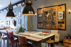 My Houzz: A Garage transformed into a boy's dream pad eclectic dining room