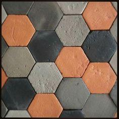 ESAGONINI : mini hexagon tile : terracotta handmade #fornacebrioni