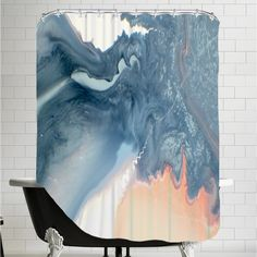 Americanflat Marble Squiggle Shower Curtain & Reviews   Wayfair