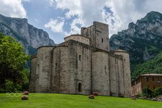Medieval abbey - Called San Vittore alle Chiuse, the abbey rose near the village of Genga, Italy.
