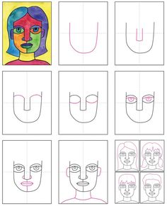 Looking for abstract self portrait ideas? Try drawing extra large features so you can color the different areas different colors. Self Portrait Kids, Portraits For Kids, Self Portrait Drawing, Pop Art Portraits, Portrait Ideas, Abstract Art For Kids, Abstract Face Art, Drawing Lessons For Kids, Art Drawings For Kids