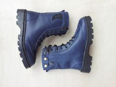 Blue leather boots [Etsy ]