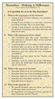 Making A Difference.jpg Barnabas' role in Early Church Bible Study Notebook, Bible Study Tools, Scripture Study, Bible Notes, Bible Scriptures, Beautiful Words, Life Quotes Love, Bible Teachings, Bible Knowledge