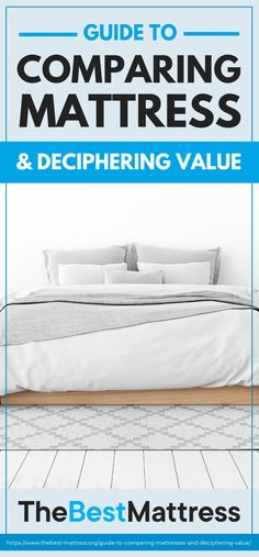 Read our mattress comparison to learn about the differences in memory foam, latex, and innerspring mattresses and find the most comfortable bed for you. Best Mattress, Mattress Brands, Quality Furniture, Furniture Deals, Mattresses, Beds, Bed Pillows, Pillow Cases, Good Things