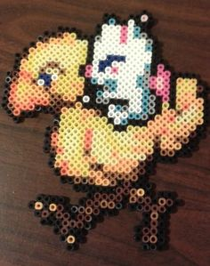 Final Fantasy 6 Moogle & Chocobo perler bead sprite