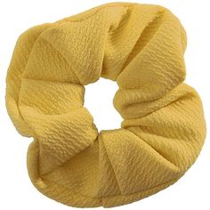 TOPSHOP Yellow Hair Scrunchie (580 RUB) ❤ liked on Polyvore featuring accessories, hair accessories, fillers, hair, lemon, yellow hair accessories, scrunchie hair accessories and metal hair accessories