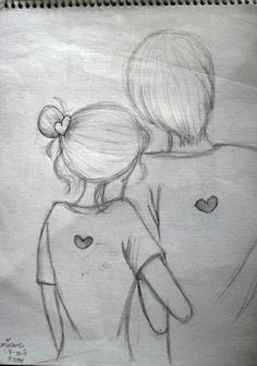 Easy drawings love ideas archives page of us easy love drawings for your boyfriend . Drawings Of Love Couples, Easy Love Drawings, Easy Drawings For Beginners, Cute Couple Drawings, Cute Drawings, Pencil Sketches Of Love, Pencil Drawing Images, Cute Sketches, Drawing Sketches