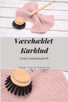 Vævehæklet Karklud gave - Best Pins Crochet Home, Crochet Baby, Knit Crochet, Crochet Potholders, Moss Stitch, Knit Patterns, Needlework, Diy And Crafts, Homemade