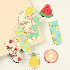 2 pcs/pack Fresh Fruit Magnet Bookmark Paper Clip School Office Supply Escolar Papelaria Gift Stationery-in Bookmark from Office & School Supplies on Aliexpress.com | Alibaba Group