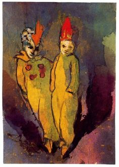 Emil Nolde, Costumed Couple on ArtStack #emil-nolde #art