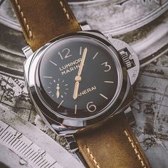 Panerai Central — One of my favorite modern pieces. G Shock Watches, Fine Watches, Sport Watches, Cool Watches, Panerai Luminor Marina, Panerai Watches, Watch Photo, Watches Photography, Best Watches For Men
