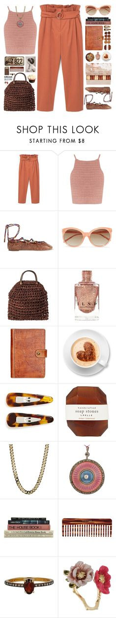 """Time Machine"" by doga1 ❤ liked on Polyvore featuring MANGO, SHE MADE ME, Valentino, Linda Farrow, Ladurée, Patricia Nash, France Luxe, Pelle, Mason Pearson and Chan Luu"
