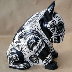 Rzeżba Tattooed Mexican Bull Terrier - Psiakrew - Figurki i odlewy