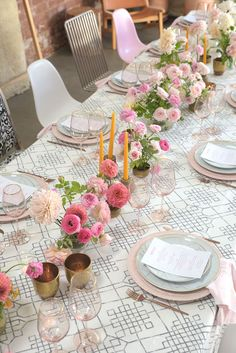 La Tavola Fine Linen Rental: Charles Grey with Lyme Check Pink Napkins Wedding Table Linens, Wedding Reception Decorations, Table Decorations, Host A Party, Diy Party, Party Ideas, A Little Party, Summer Parties, Dinner Parties