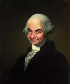 Mr Bean subtly takes the role of George Washington, once painted by Gilbert Stuart. 11 Art Masterpieces Improved By Mr Bean Portrait Pictures, Portrait Art, Profile Pictures, Photomontage, Mr Bean Photoshop, Mr Bean Funny, Gilbert Stuart, Hans Holbein The Younger, Best Whatsapp Dp