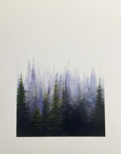 Landscaping Background - Landscaping Drawing Step By Step - Landscaping Pictures Lake - Landscaping Photos To Paint Watercolor Art, Watercolor Trees, Abstract Watercolor Landscape, Abstract Landscape, Misty Forest, Painting Inspiration, Painting, Art, Forest Painting
