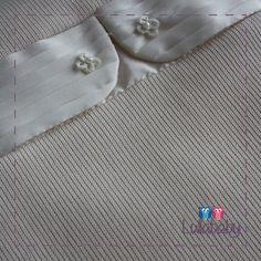 Manta pêssego 100% algodão tricotado com plissado em tafetá off white.  Fornecedor: Petit Calin http://www.lullababy.com.br/pd-FCDC5.html