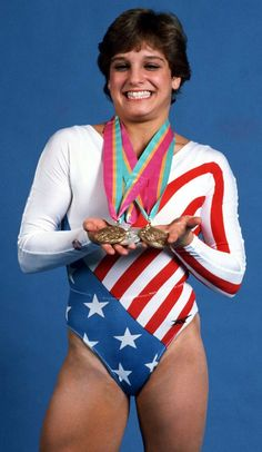 Mary Lou Retton catapulted to international fame by winning the All Around Gold Medal in women's gymnastics at the 1984 Olympic Games in Los Angeles, becoming the first American woman ever to win a gold medal in gymnastics.