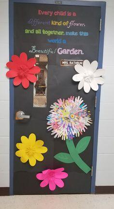 Newly created spring classroom door.