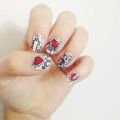 Keith Haring Nail Art   @Megan Ward Maxwell Instagram photos
