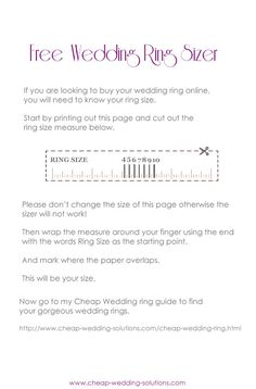 If you want to save money and buy your wedding ring online you will need to know your size. Here is a free printable ring sizer to get you started. Cheap Wedding Rings, Looking To Buy, Rings Online, Good And Cheap, Free Wedding, Bracelets For Men, Free Printables, Silver Rings, Jewelry