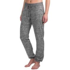 Harmony and Balance Hacci Lounge Pants - Elastic Cuffs (For Women) in Grey Combo - Closeouts