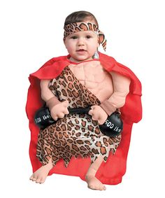 forum novelties tan mini muscle man dress up outfit infant - Infant Penguin Halloween Costume