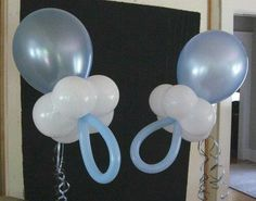 Pacifier balloons for baby shower