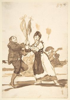 Goya (Francisco de Goya y Lucientes) (Spanish,1746–1828). Provincial Dance, from Images of Spain Album (F), 89,1812–20. The Metropolitan Museum of Art, New York. Harris Brisbane Dick Fund, 1935 (35.103.47)